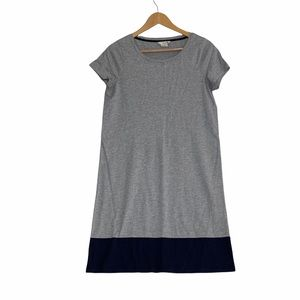 Boden Short Sleeve T-shirt Day Dress US Sz 6  Color Block Style WH766 Gray Navy